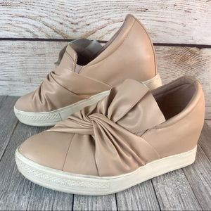 Steve Madden Bow Wedge Sneakers